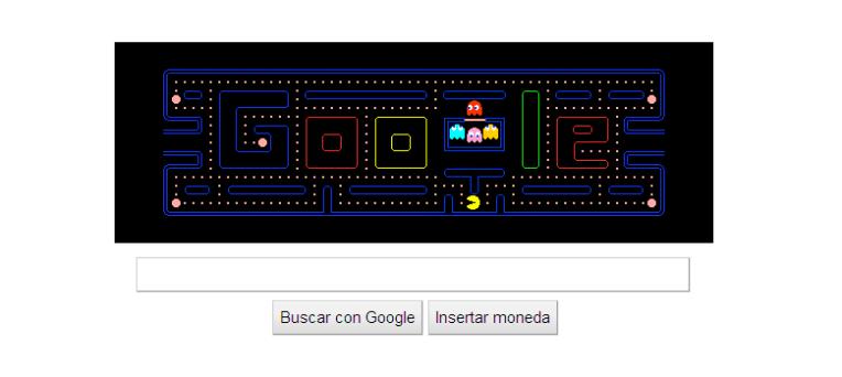 PacMan jugable en Google
